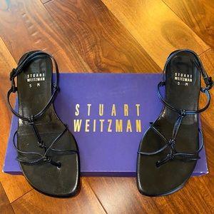 Women's sz 5 Stuart Weitzman Black Greece Sandals